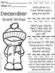 Christmas Activities December Quick Writes Writing Prompts