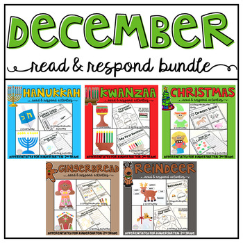 December: Reading Comprehension, Writing and Craftivities BUNDLE