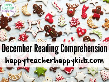 December Reading Comprehension Activities: Hanukkah, Kwanzaa, Christmas