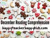 December Reading Comprehension Activities: Hanukkah, Kwanz