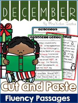 December Reading Comprehension Cut and Paste Fluency Passages