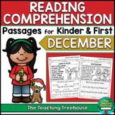 December Reading Comprehension Passages for Kindergarten a