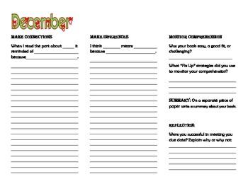 December Reading Comprehension Strategies