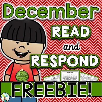 December Reading Comprehension & Written Response FREEBIE {Kwanzaa}