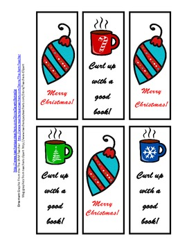 December  Reading Encouragers - Reading Logs and  Bookmarks