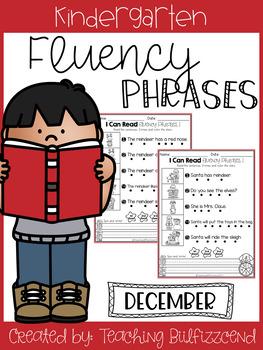 December Reading Fluency Phrases