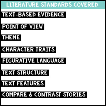 December Reading Homework for 4th & 5th PAPER-SAVING color text-based evidence