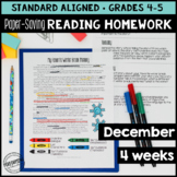 December Reading Homework for 4th & 5th PAPER-SAVING color