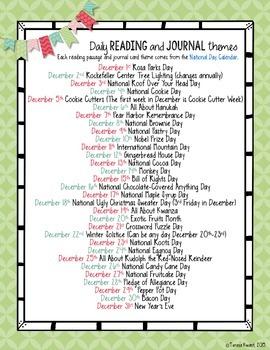 December Reading Passages 2nd Grade