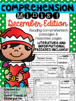 December Reading Passages {Comprehension Minis}