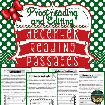 December Reading Passages: Proofreading and Editing