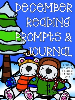 December Reading Prompts & Journal- Common Core Aligned