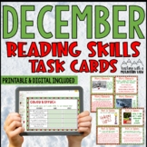 December Reading Skills and Enrichment Task Cards | Distance Learning | Google