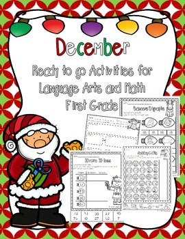 December Ready to Print Activities (Grade 1)