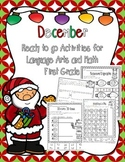 December Ready to Print Activities (Grade 1)