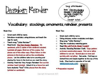 December Reindeer Vocabulary Lesson Plans