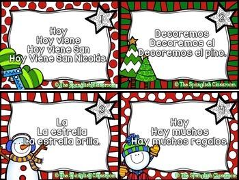 December Repeated Reading Task Cards en Español