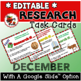Research Task Cards for December