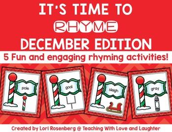 December Rhyming Activities
