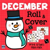 December Roll and Cover Math Pack