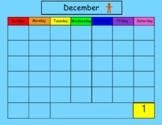 December SMART Board Calendar Math for Kindergarten