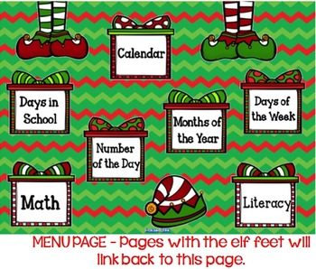 December SMARTboard Morning Meeting with Calendar and Much More!