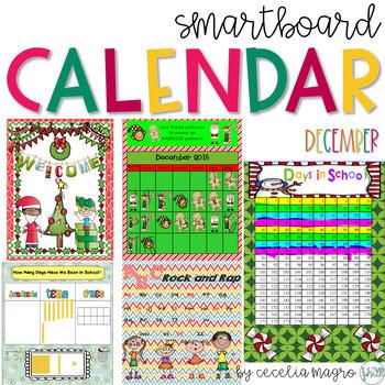 December SMARTBoard Calendar ***Common Core Aligned*** First Grade