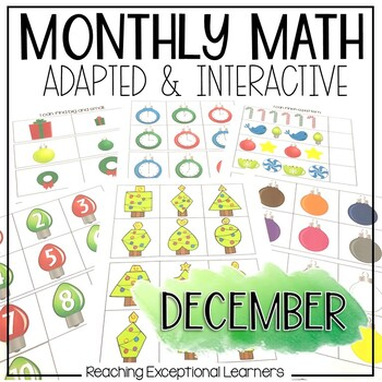 December SPED Math Adapted Workbook