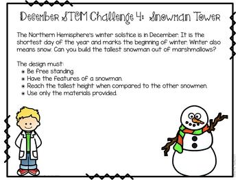 December STEM Challenges