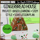 December STEM Project-Based Learning Gingerbread House Cir