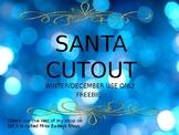December Santa Cutout Freebie