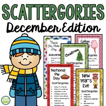December Scattergories Games