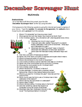 December Scavenger Hunt