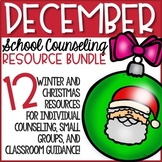 December School Counseling Christmas Resources Holiday Activities Bundle