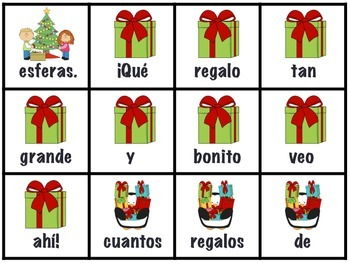 December Scrambled Sentences in Spanish