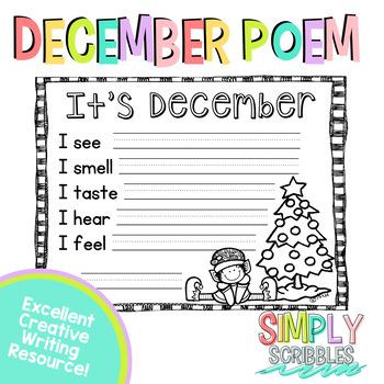December Sensory Poem