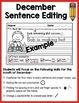 December Sentence Editing
