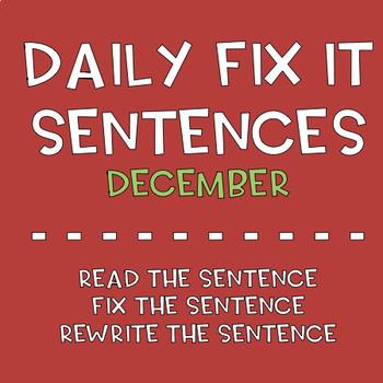 December Sentence Fix-Its