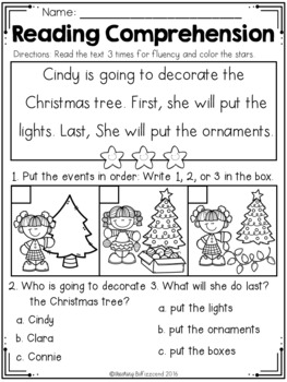 December Sequencing Reading Comprehension