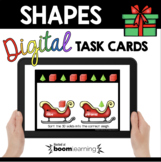 December Shape Sorting Kindergarten Geometry Boom Cards™ Distance Learning