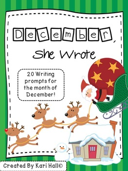 December, She Wrote! My December Writing Journal {20 prompts!}
