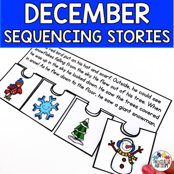 December Short Story Sequencing Jigsaws