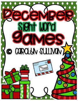 December Sight Word Games for 100 Fry Words