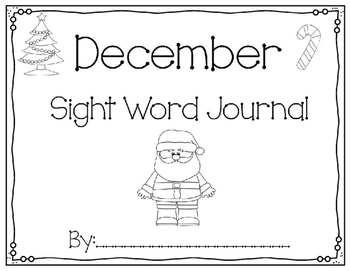 December Sight Word Journal-Print and Go!