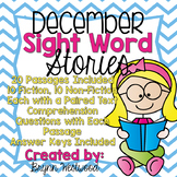 December Sight Word Stories