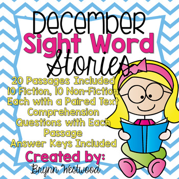 December Sight Word Stories