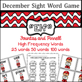 December Sight Word game - Fountas and Pinnell High Frequency Word