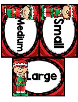 December Size Sorts - CCSS Aligned for Kindergarten