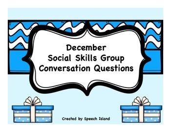 December Social Skills Conversation Questions/Writing Prompts