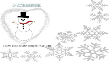 December Songs and a Story for Your Elementary Classroom